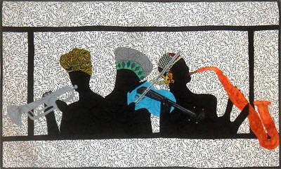 Tapestry - Textile - Jam Session by Aisha Lumumba
