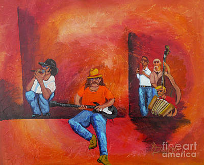 Painting - Jam Session by Anthony Dunphy