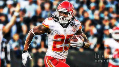 Mixed Media - Jamaal Charles Collection by Marvin Blaine