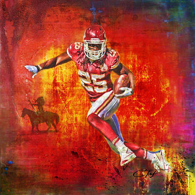 Sports Paintings - Jamaalcalypse by Colleen Taylor