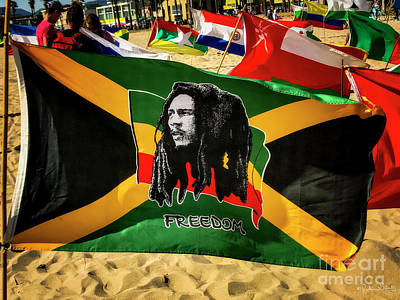 Photograph - Jamaica And Bob Marley Flag #1 by Julian Starks