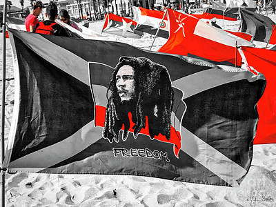 Photograph - Jamaica And Bob Marley Flag #2 by Julian Starks
