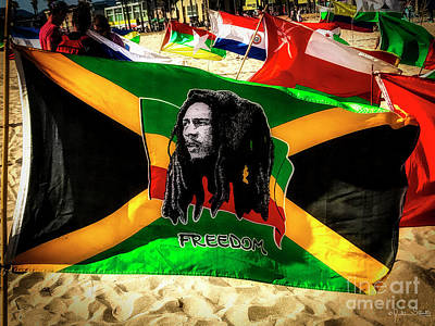 Photograph - Jamaica And Bob Marley Flag #3 by Julian Starks