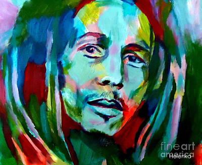 Bob Marley Abstract Painting - Jamaica by Helena Wierzbicki