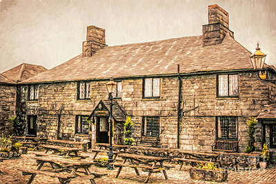 Beer Mixed Media - Jamaica Inn Cornwall by Linsey Williams