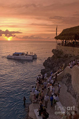 Photograph - Jamaica Negril Ricks Cafe by Juergen Held