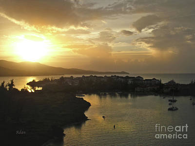 Rights Managed Images Photograph - Jamaica Sunset Bay by Felipe Adan Lerma