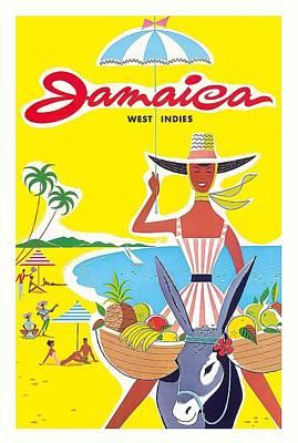 Jamaica West Indies Caribbean Vintage World Travel Poster Art Print