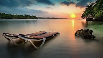 Jamaican Sunset Photograph - Jamaican Bay by Mihai Andritoiu