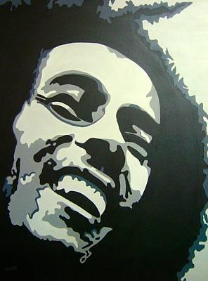 Reggae Kings Painting - Jamaican Rastaman by Una  Miller