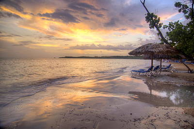 Jamaican Sunset Photograph - Jamaican Sunset by Tracy Morehouse