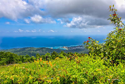 Clouds Photograph - Jamaican Vista by John M Bailey