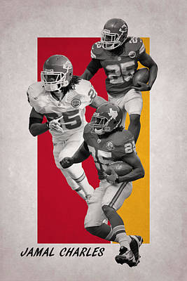 Photograph - Jamal Charles Kansas City Chiefs by Joe Hamilton