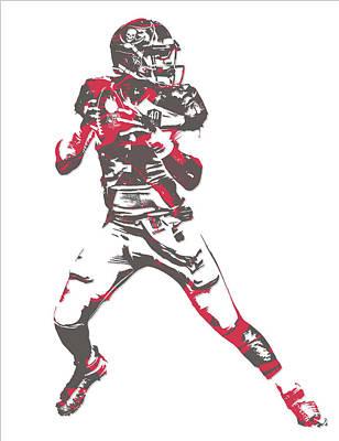 Jameis Winston Tampa Bay Buccaneers Pixel Art 7 Art Print