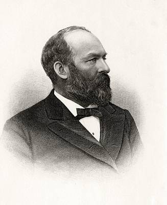 James Abram Garfield 1831 To 1881 20th Print by Vintage Design Pics