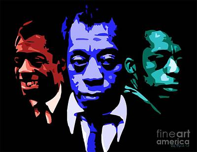 African-american Digital Art - James Baldwin by Walter Oliver Neal