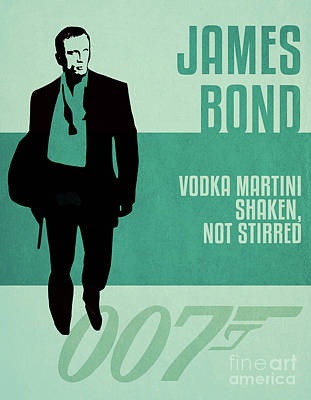 Martini Royalty-Free and Rights-Managed Images - James Bond Minimalist Movie Quote Poster Art 1 by Nishanth Gopinathan