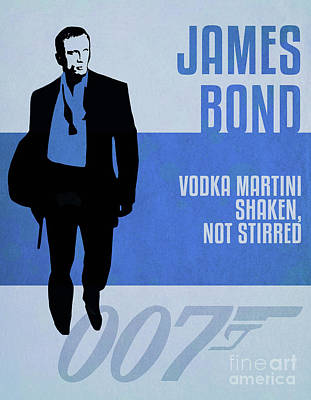 Martini Royalty-Free and Rights-Managed Images - James Bond Minimalist Movie Quote Poster Art 2 by Nishanth Gopinathan