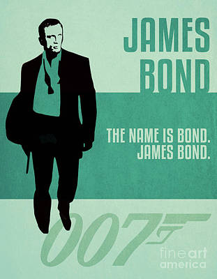 Martini Royalty-Free and Rights-Managed Images - James Bond Minimalist Movie Quote Poster Art 3 by Nishanth Gopinathan