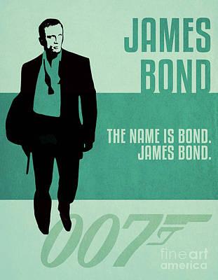 Martini Digital Art - James Bond Minimalist Movie Quote Poster Art 3 by Nishanth Gopinathan