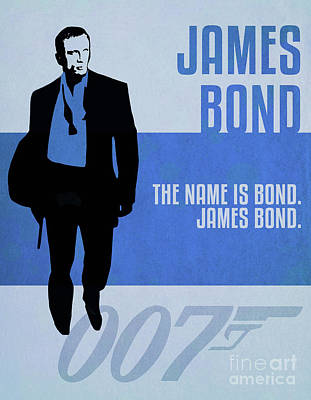 Martini Royalty-Free and Rights-Managed Images - James Bond Minimalist Movie Quote Poster Art 4 by Nishanth Gopinathan