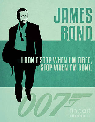 Martini Royalty-Free and Rights-Managed Images - James Bond Minimalist Movie Quote Poster Art 5 by Nishanth Gopinathan