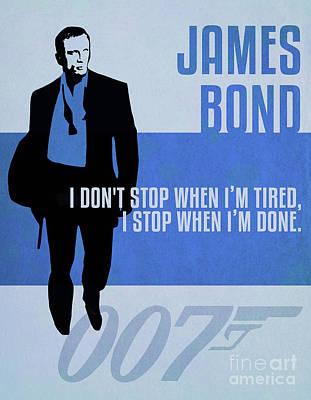 Martini Digital Art - James Bond Minimalist Movie Quote Poster Art 6 by Nishanth Gopinathan