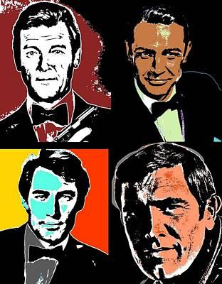 Agents Mixed Media - James Bond by Otis Porritt