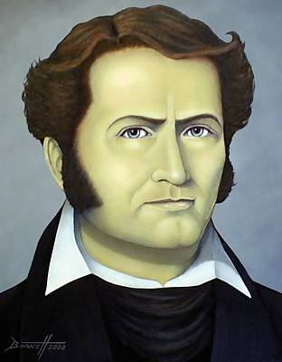 Republic Of Texas Painting - James Bowie by Mark Barnett