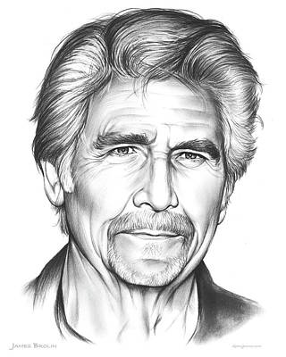 Barbra Streisand Drawing - James Brolin by Greg Joens