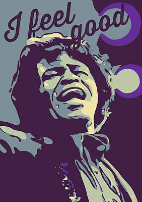 Jazz Royalty-Free and Rights-Managed Images - James Brown by Greatom London