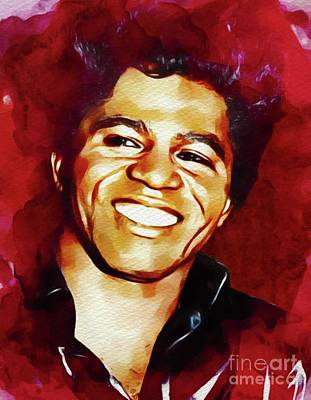 Music Paintings - James Brown, Music Legend by Esoterica Art Agency