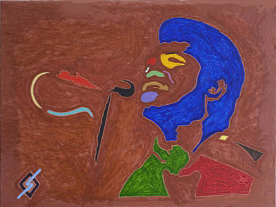 Negro Painting - James Brown by Stormm Bradshaw