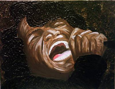 Keenya Woods Painting - James Brown- Superbad by Keenya  Woods