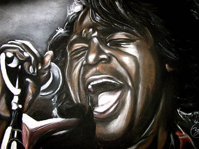 James Brown Art Print by Zach Zwagil