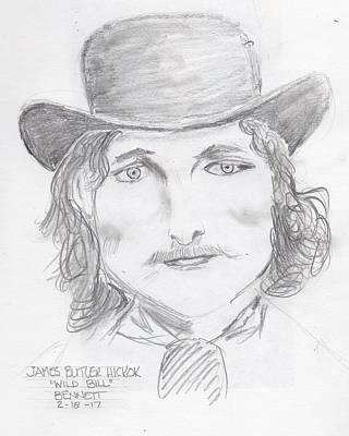 Drawing - James Butler Hickok by John Bennett