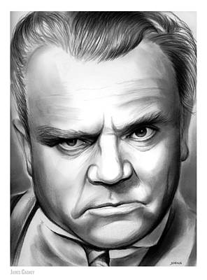 Dancer Drawing - James Cagney by Greg Joens
