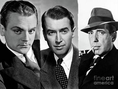 Photograph - James Cagney, Jimmy Stewart And Humphrey Bogart by Doc Braham
