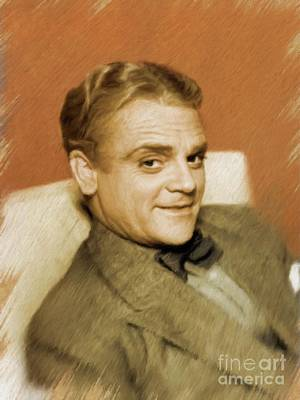 Painting - James Cagney, Vintage Actor by Mary Bassett