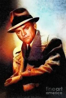Musicians Royalty-Free and Rights-Managed Images - James Cagney, Vintage Hollywood Legend by Frank Falcon