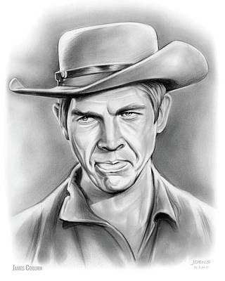 Drawing - James Coburn by Greg Joens