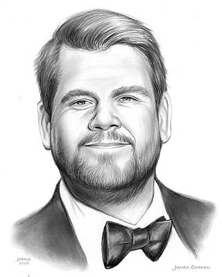Drawing - James Corden by Greg Joens