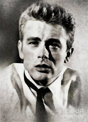 James Dean, Actor By Js Art Print