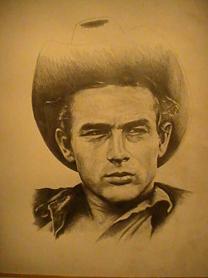 James Dean Drawing - James Dean Almost Done by Stoney Harmon