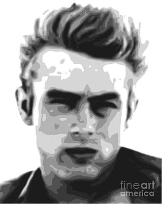 Painting - James Dean - Bw by Star Art