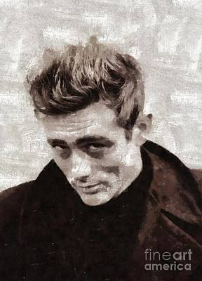 Actors Royalty-Free and Rights-Managed Images - James Dean by Mary Bassett by Mary Bassett