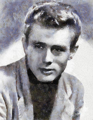 Actors Royalty-Free and Rights-Managed Images - James Dean by Sarah Kirk by Sarah Kirk