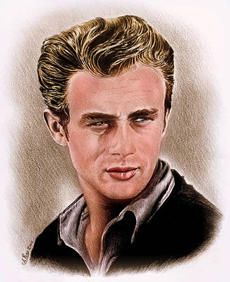 Painting - James Dean Colour Edit by Andrew Read