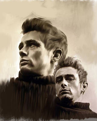 Steve Mcqueen Art Painting - James Dean  Duality II by Iconic Images Art Gallery David Pucciarelli