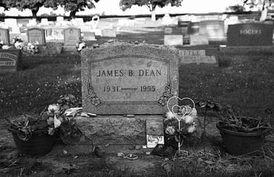 James Dean Photograph - James Dean Gravestone by Dan Sproul